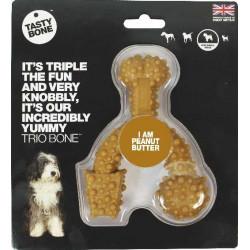 TastyBone Trio Bone Small Tasty Bone Peanut Butter NEW
