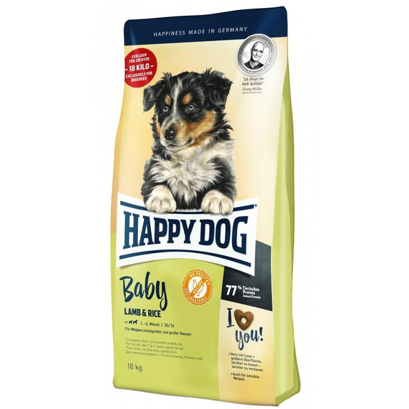 Happy Dog Profilinie Baby Agnello Riso 1-6 mesi 18kg