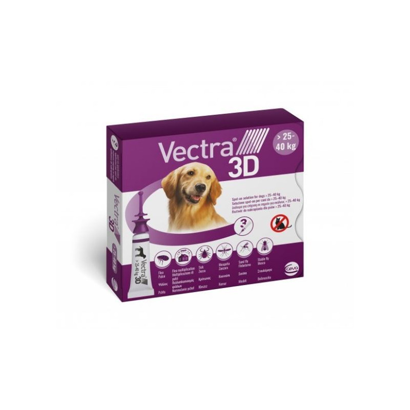 Vectra 3D Spot-on 25-40 kg 3 pipette